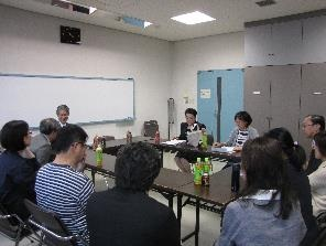 大矢先生を囲む会の様子
